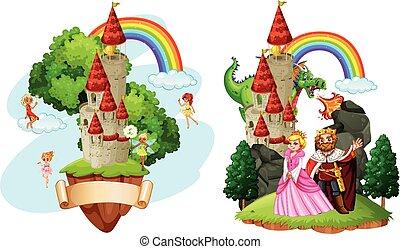 beau, conte, fée, château