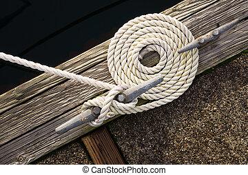 beau, corde, arc, bas, tourbillonné, nautique, cravate,...