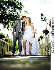 beau, couple, mariage