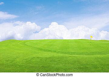 beau, cours, golf
