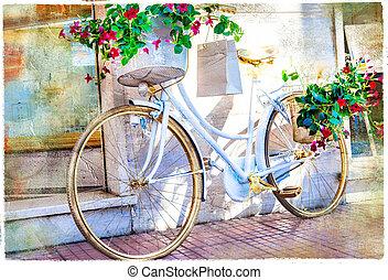 beau, décoratif, bike.