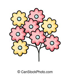 beau, décoratif, fleurs, jardin