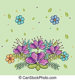 beau, décoration, fleurs, jardin