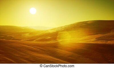 beau, désert, sable, sahara, dunes