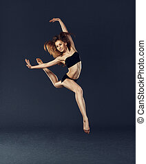 beau, danseur, danse, danse, ballet, contemporain, style