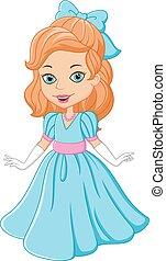beau, dessin animé, princesse