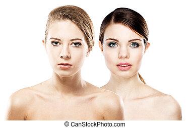 beau, deux femmes