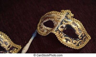 beau, deux, masques, figure