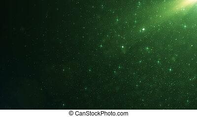 beau, fait boucle, dynamique, flotter, lent, particules, animation, noir, 3840x2160, 3d, motion., bokeh., fond, émeraude, poussière, hd, flamme, air, vert, 4k, ultra, vent
