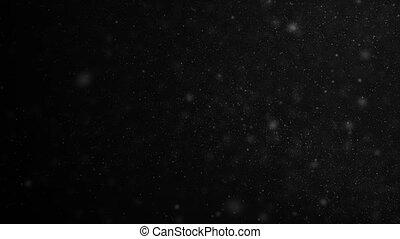 beau, fait boucle, flotter, lent, voler, seamless, particules, animation, noir, 3840x2160, 3d, points, motion., bokeh., fond, poussière, hd, gros plan, air, 4k, ultra, vent