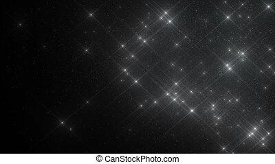 beau, fait boucle, seamless., animation., dynamique, flotter, lent, voler, particules, éclats (flares), noir, 3840x2160, 3d, motion., fond, poussière, argent, hd, air, 4k, ultra, vent