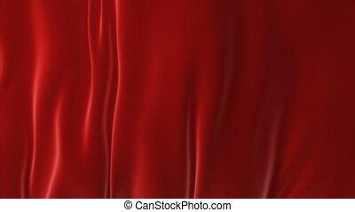 beau, fait boucle, soufflé, résumé, surface, loin, vent, matte., arrière-plan., animation, rideau, rouges, 3d, révéler, ouverture, screen., onduler, tissu, ondulé, alpha, soie, hd, mouvement, 4k, ultra