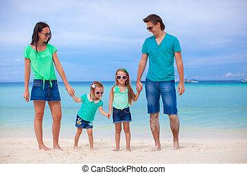 beau, famille, philippines, vacances, exotique, portrait, caucasien