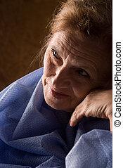 beau, femme âgée
