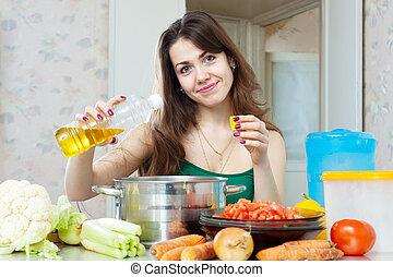 D jeuner l gumes cuisine v g tarien femme foyer elle for Cuisinier vegetarien