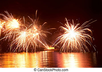 beau, feux artifice