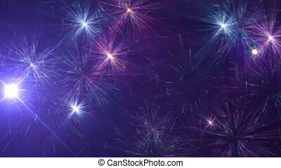 beau, feux artifice, cg, célébration, jour