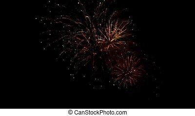 beau, feux artifice, veille, années, nouveau, exposer