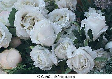 beau, fleurs, artificiel