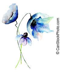 beau, fleurs