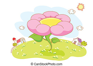 beau, fleurs, jardin