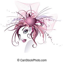 beau, floral, girl