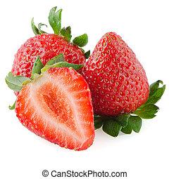 beau, fraises