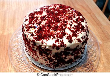 beau, gâteau, décoré, chocolat