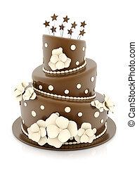 beau, gâteau, mariage