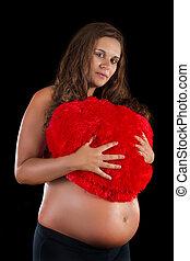 beau, girl, studio, pregnant