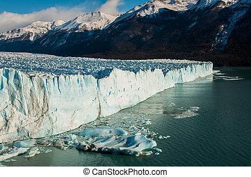 beau, glacier, perito, moreno, argentine, paysages