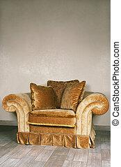 beau, grand, fauteuil