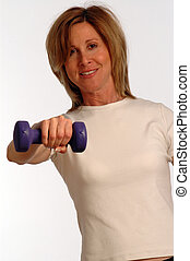 beau, gymnase, femme, fitness