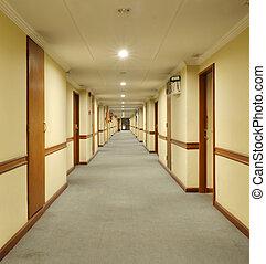 couloir h tel long signe sortie portes salle photographie de stock rechercher des