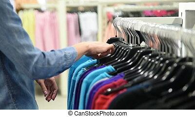 beau, habillement, achats femme, magasin