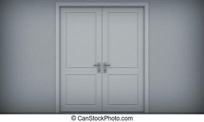 beau, hd., ciel, portes, opening.