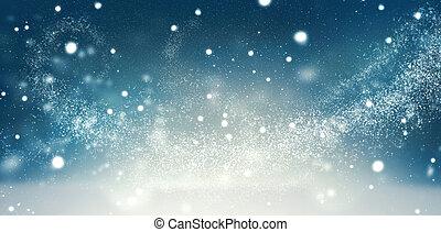 beau, hiver, neige, fond, vacances, noël