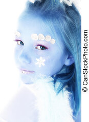 beau, hiver, princesse
