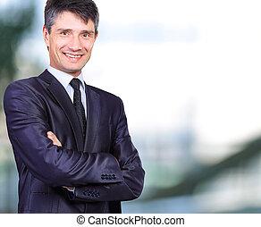 beau, homme affaires