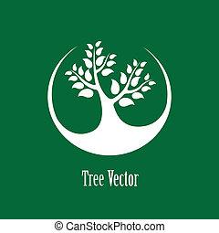 beau, illustration, plante, concept, graphic-, résumé, arbre...