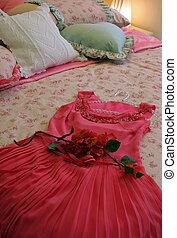beau, intérieurs maison, -, chambre à coucher