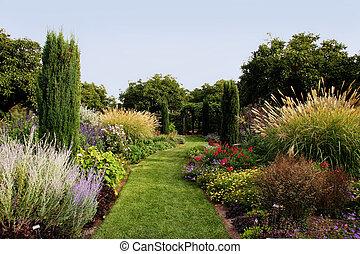 beau, jardin