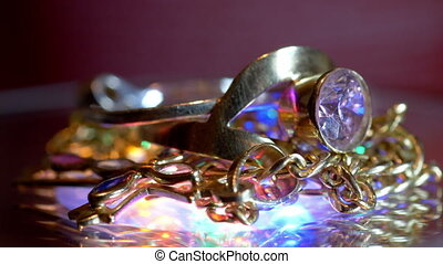 beau, jewelery, or, luxueux