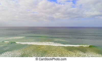 beau, jour ensoleillé, mer, 4k
