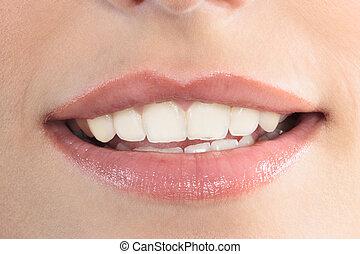 beau, lèvres, femme, bouche