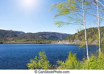 beau, lac