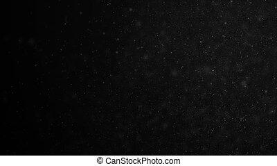 beau, lent, organique, motion., dynamique, bokeh., air, particules, fait boucle, noir, 4k, fond, 3840x2160, poussière, vent, flotter, ultra, animation, hd, 3d