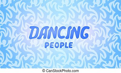beau, lettrage, danse, gens arrière-plan