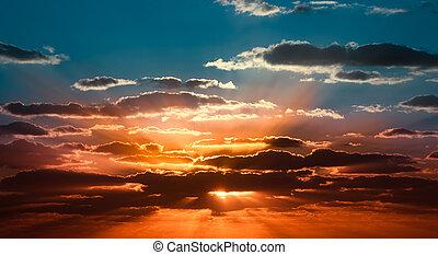 beau, levers de soleil