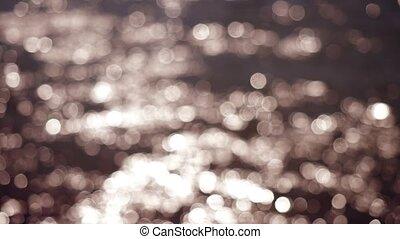 beau, lumières, résumé, arrière-plan., bokeh, 4k, scintillement